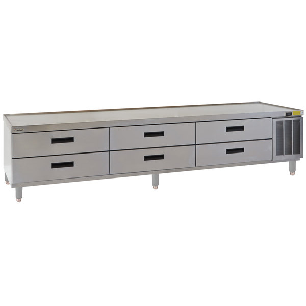 """Delfield F29110P 110"""" 6 Drawer Refrigerated Chef Base"""