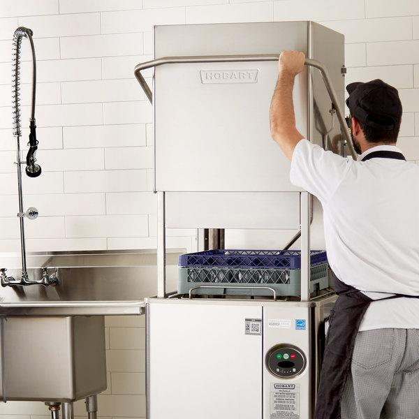 Hobart AM15-1 Select Single Rack High / Low Temperature Straight/Corner Dishwasher - 208/240V, 3 Phase Main Image 5