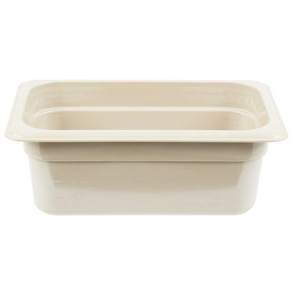 Cambro 44HP772 X-Pan 1/4 Size Sandstone High Heat Food Pan - 4 inch Deep