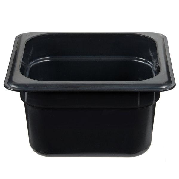 Cambro 64HP771 X-Pan 1/6 Size Onyx High Heat Food Pan - 4 inch Deep