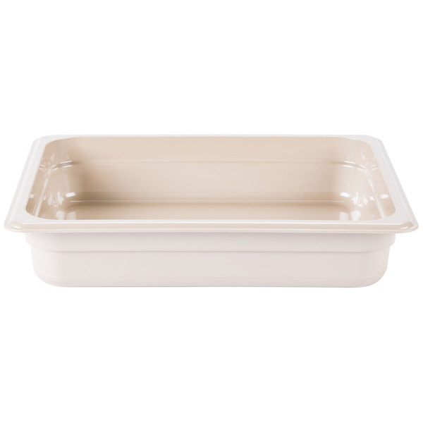 Cambro 22HP772 X-Pan 1/2 Size Sandstone High Heat Food Pan - 2 1/2 inch Deep