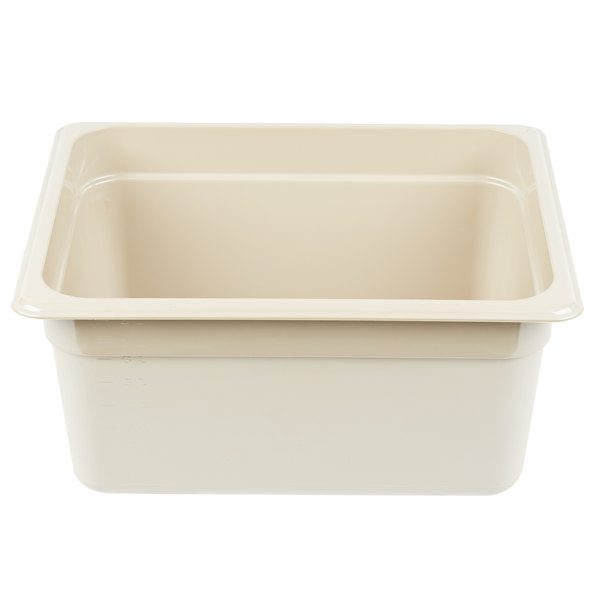 Cambro 26HP772 X-Pan 1/2 Size Sandstone High Heat Food Pan - 6 inch Deep