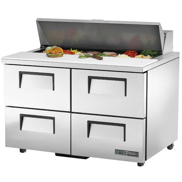 True TSSU-48-12D-4-HC 48 inch 4 Drawer Refrigerated Sandwich Prep Table