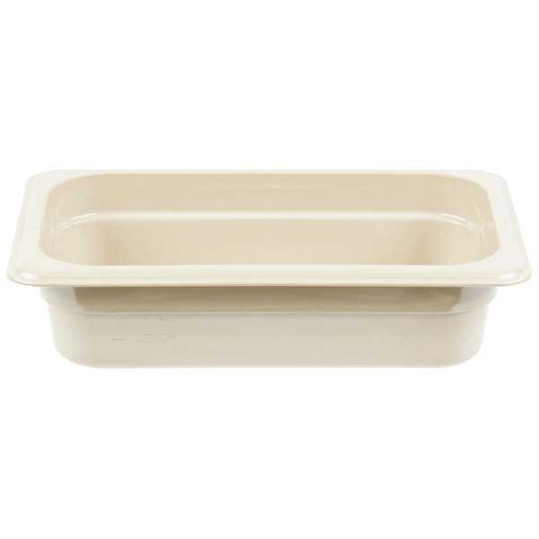 Cambro 42HP772 X-Pan 1/4 Size Sandstone High Heat Food Pan - 2 1/2 inch Deep