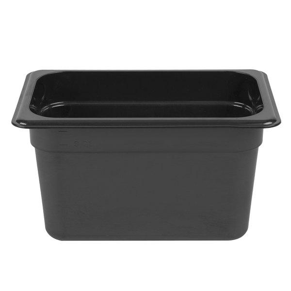 Cambro 46HP771 X-Pan 1/4 Size Onyx High Heat Food Pan - 6 inch Deep