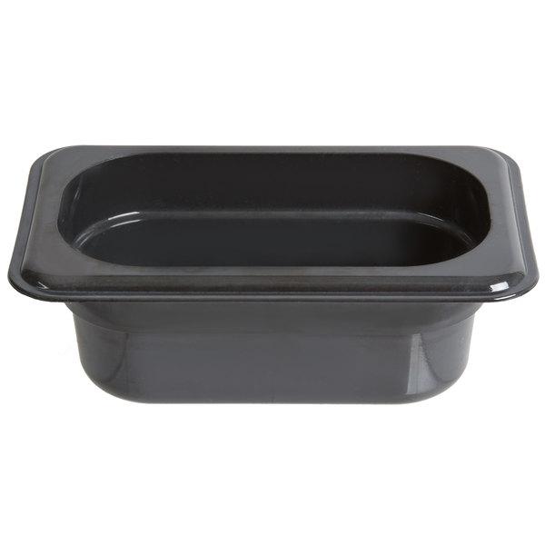 Cambro 92HP771 X-Pan 1/9 Size Onyx High Heat Food Pan - 2 1/2 inch Deep