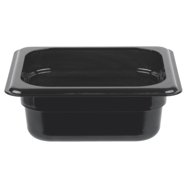 Cambro 62HP771 X-Pan 1/6 Size Onyx High Heat Food Pan - 2 1/2 inch Deep