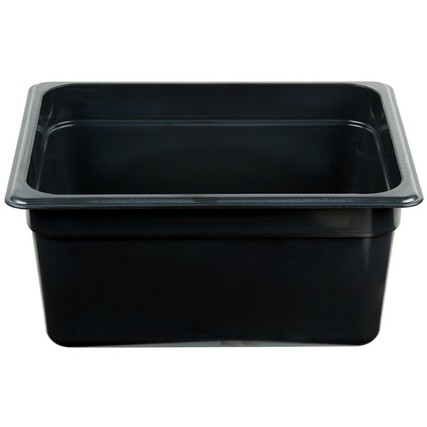 Cambro 26HP771 X-Pan 1/2 Size Onyx High Heat Food Pan - 6 inch Deep