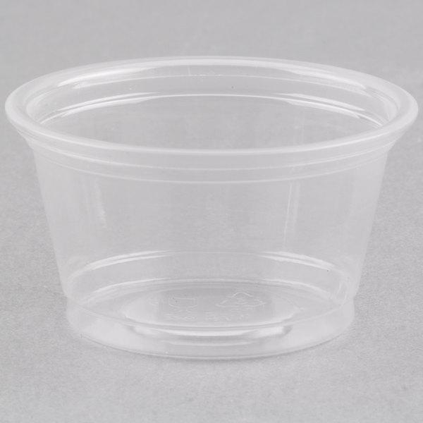 Choice 0.75 oz. Clear Plastic Souffle Cup / Portion Cup  - 2500/Case