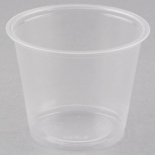 Choice 5.5 oz. Clear Plastic Souffle Cup / Portion Cup  - 2500/Case