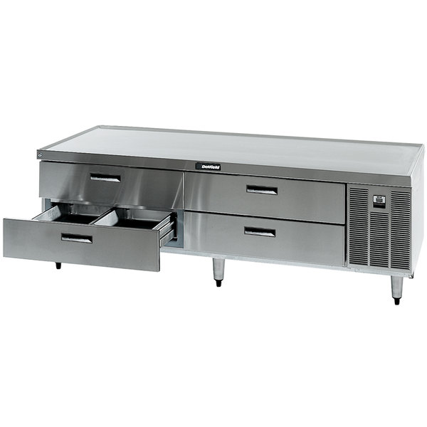 """Delfield F2980P 80"""" 4 Drawer Refrigerated Chef Base"""