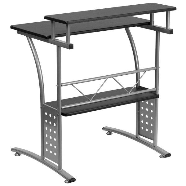 Black Flash Furniture NAN-Clifton-BK-GG Clifton Computer Desk