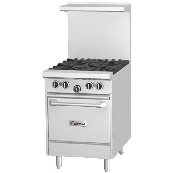 "Garland G24-G24L Liquid Propane 24"" Range with 24"" Griddle and Space Saver Oven - 68,000 BTU"