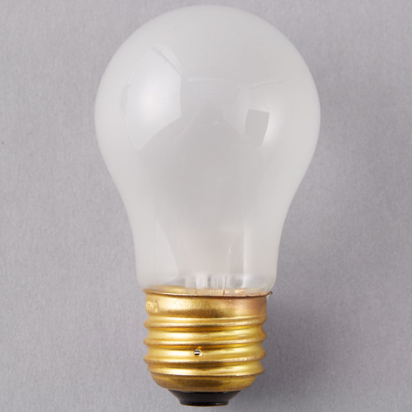 Satco S3811 40 Watt Frosted Finish Incandescent General Service Light Bulb - 130V (A15)