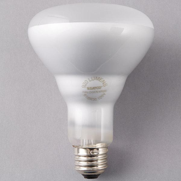 Satco S4515 65 Watt Warm White Frosted Finish Halogen Flood Lamp Light Bulb - 120V (BR30)