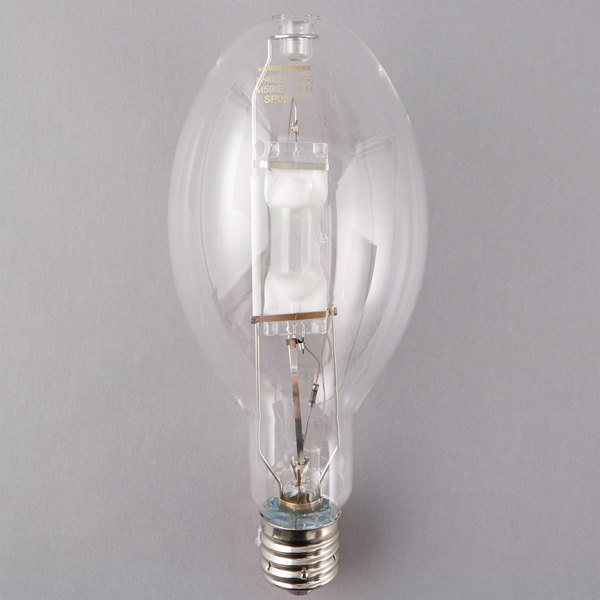 Satco S5833 400 Watt Cool White Clear Finish Metal Halide HID Light Bulb (ED37)