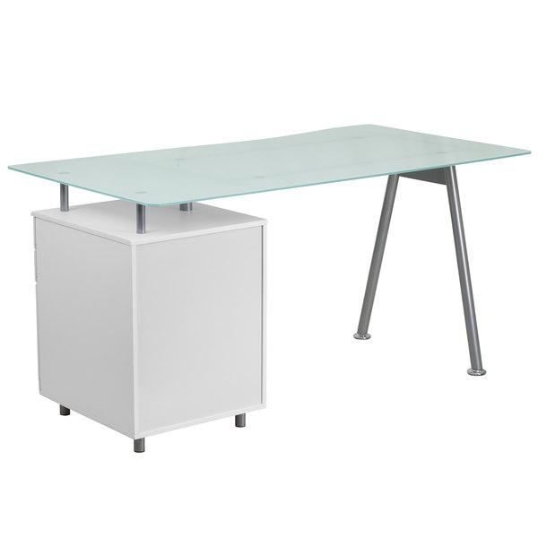 Nan Wk 021 Gg White Tempered Gl Desk