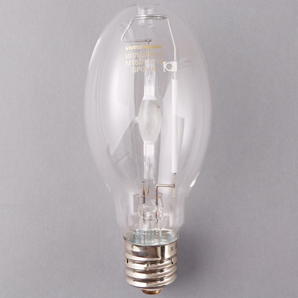 Satco S5824 175 Watt Cool White Clear Metal Halide HID Light Bulb (ED28)
