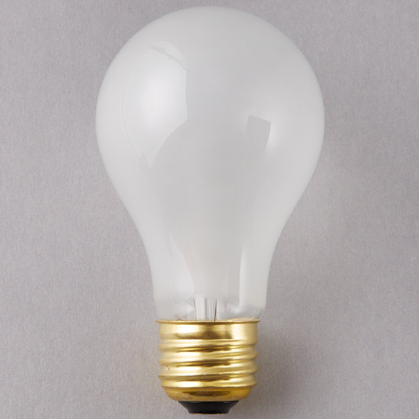 Satco S8522 Supreme 60 Watt Frosted Finish Incandescent Rough Service Light Bulb - 4/Pack