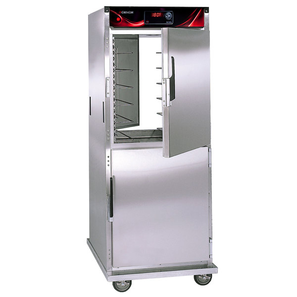 Cres Cor H-137-PSUA-12D Pass-Through Insulated Stainless Steel Hot Holding Cabinet with Solid Dutch Doors - 120V Main Image 1