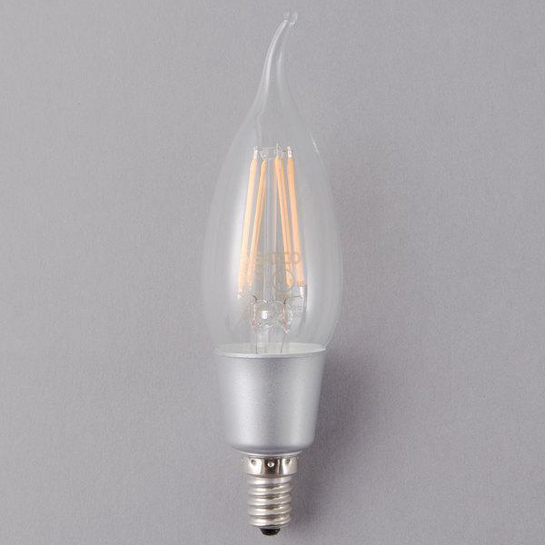 satco led lighting. satco s9574 4.5 watt (40 equivalent) clear warm white led light bulb with candelabra base - 120v led lighting
