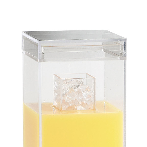 Cal-Mil C1527-LID Replacement Lid for 1.5 and 3 Gallon Square Acrylic Beverage Dispensers Main Image 1