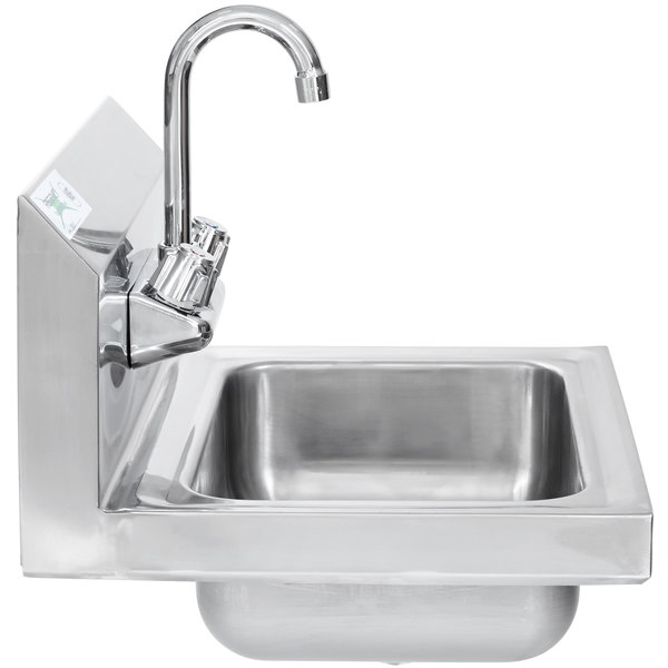 Commercial Stainless Steel Hand Wash Washing Faucet Wall