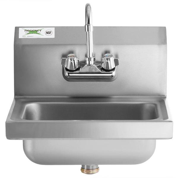 Regency Stainless Steel Hand Washing Sink Wall Mount