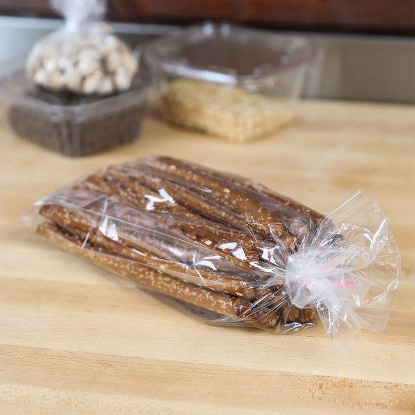 """LK Packaging P12G050313 Plastic Food Bag 5 1/4"""" x 3"""" x 13"""" - 1000/Box Main Image 3"""