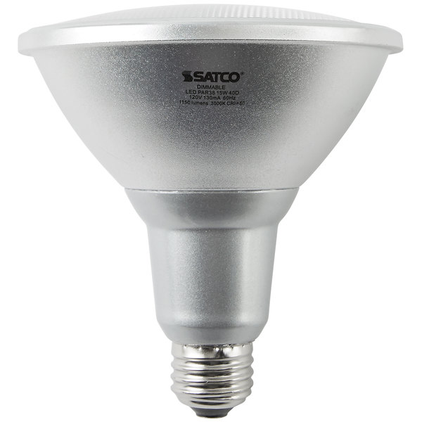 Great Satco S9446 15 Watt (90 Watt Equivalent) Warm White Indoor/Outdoor LED  Reflector Light Bulb   120V (PAR38)