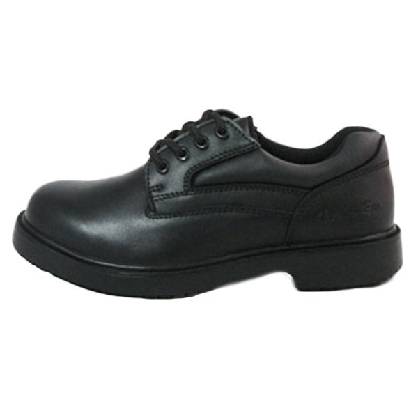 Women S Size 11 Wide Width Black Leather Comfort Oxford Non Slip Shoe Main Picture Image Preview