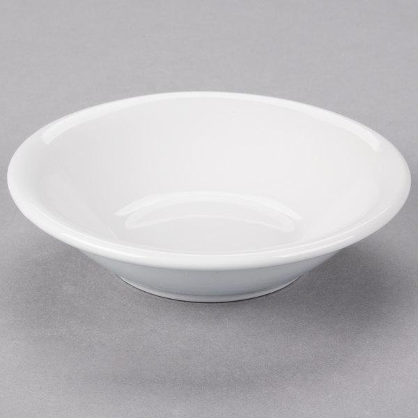 Core 5 oz. Bright White Rolled Edge China Fruit Bowl / Monkey Dish - 36/Case