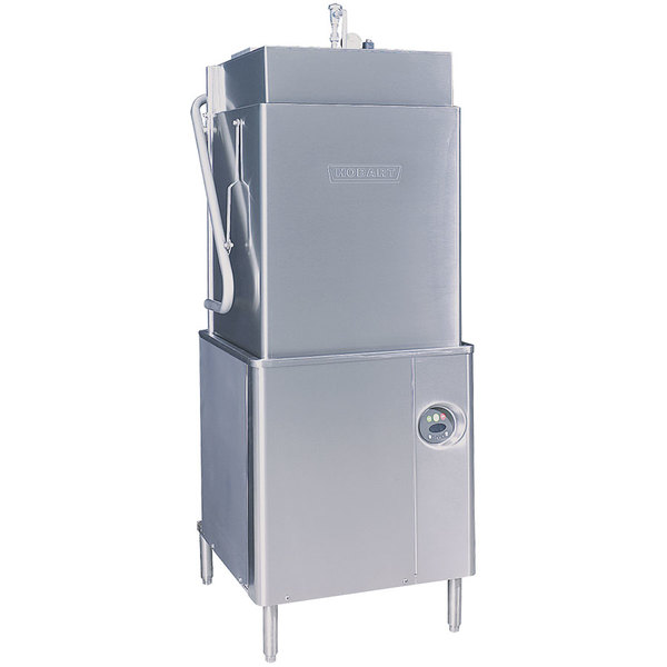 Hobart AM15T-2 Tall Single Rack High Temperature Straight/Corner Dishwasher with Booster Heater - 208/240V, 3 Phase Main Image 1