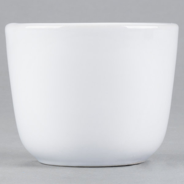 Acopa 4.5 oz. Bright White Rolled Edge Chinese Asian China Tea Cup - 36/Case