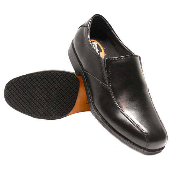 Genuine Grip 9550 Men's Size 11.5 Wide Width Black Slip-On Non Slip Dress Shoe