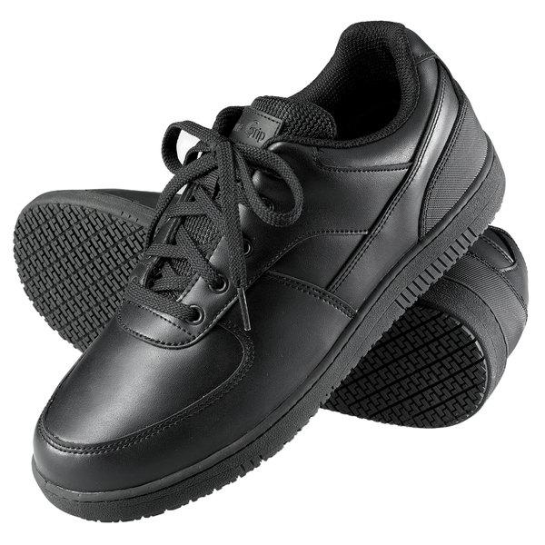 Genuine Grip 2010 Men's Size 12 Wide Width Black Leather Sport Classic Non Slip Shoe