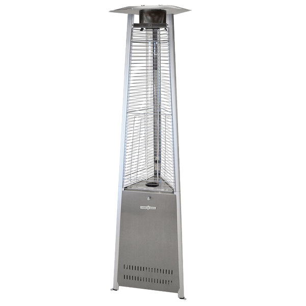 Crown Verity CV-2670-SS Liquid Propane Stainless Steel Outdoor Patio Heater with Quartz Tube Main Image 1