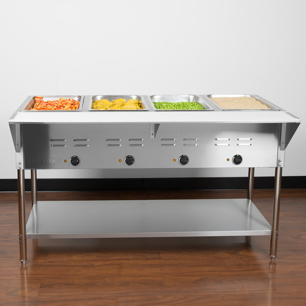 Servit Est 4we Four Pan Open Well Electric Steam Table