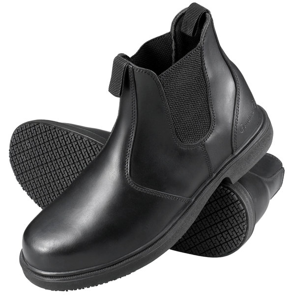 ... performance sportswear f6d05 2cec2 Genuine Grip 7141 Mens Size 8 Wide  Width Black Non Slip Leat ... 7337728fb