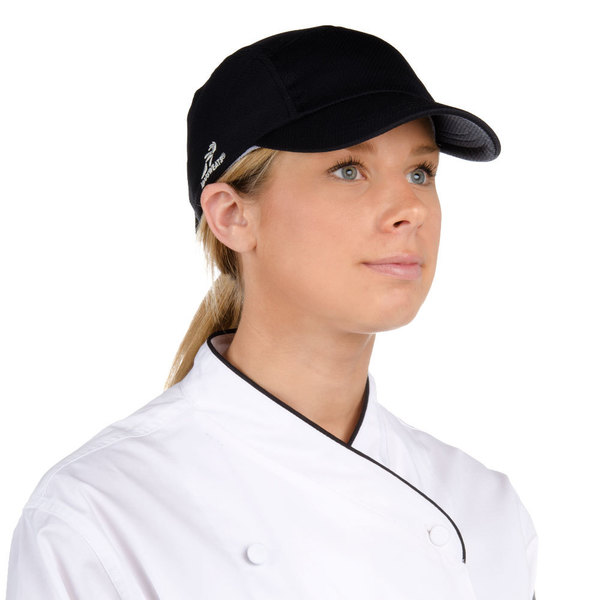 Keep your kitchen staff cool and dry in any work environment with this  classic black Eventure fabric chef cap! 6f4e773c715