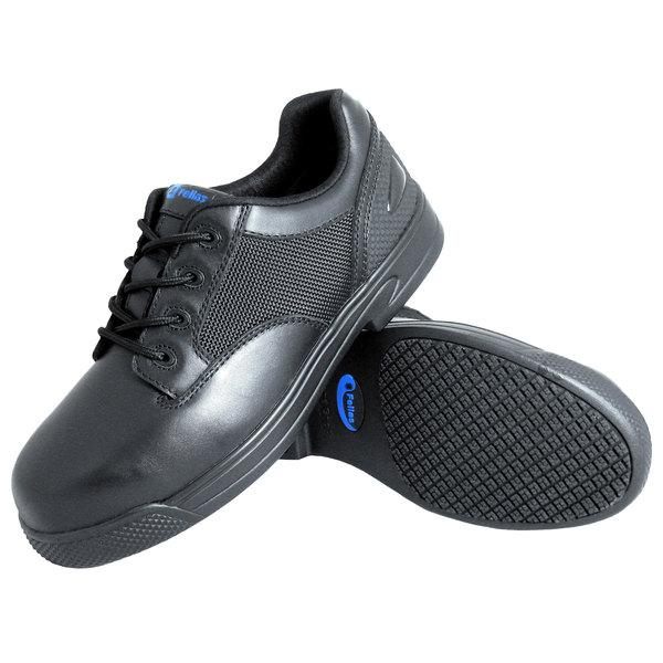 Genuine Grip 5040 Apache Men's Size 7 Medium Width Oxford Black Composite Toe Non Slip Full Grain Leather Shoe