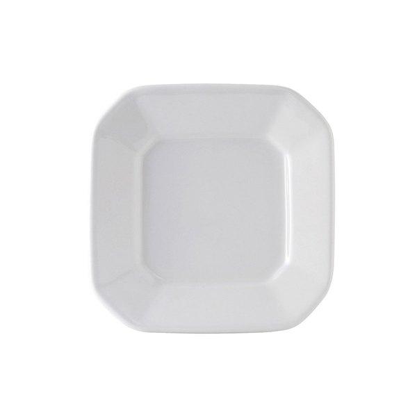 "Tuxton BPH-070E DuraTux 7"" Bright White Octagon China Plate - 12/Case"