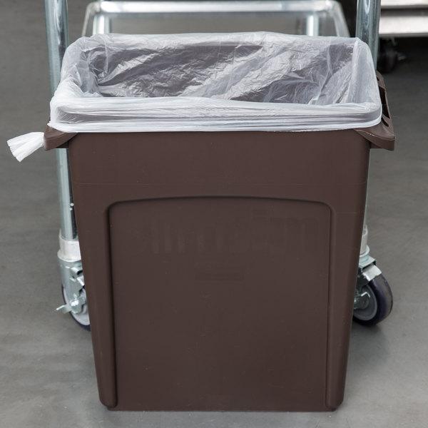 Rubbermaid 1956181 Slim Jim 16 Gallon Brown Trash Can