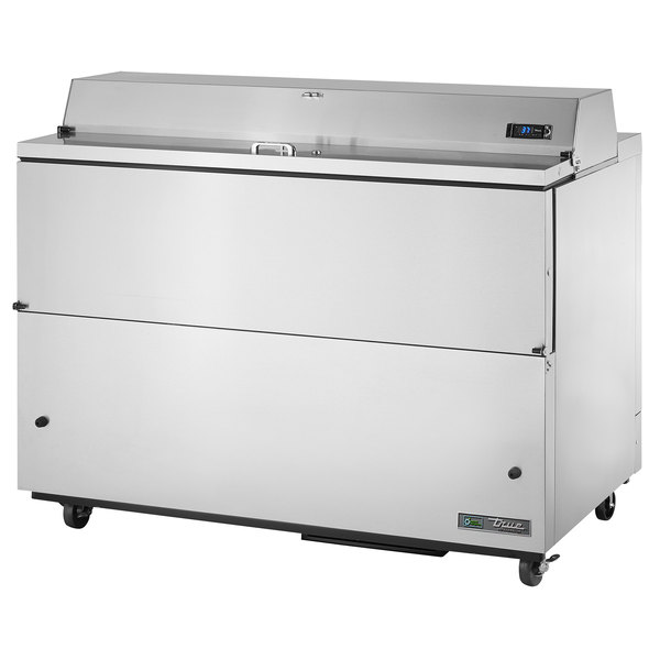 True TMC-58-S-SS-HC 58 inch One Sided Milk Cooler with Stainless Steel Interior and Exterior
