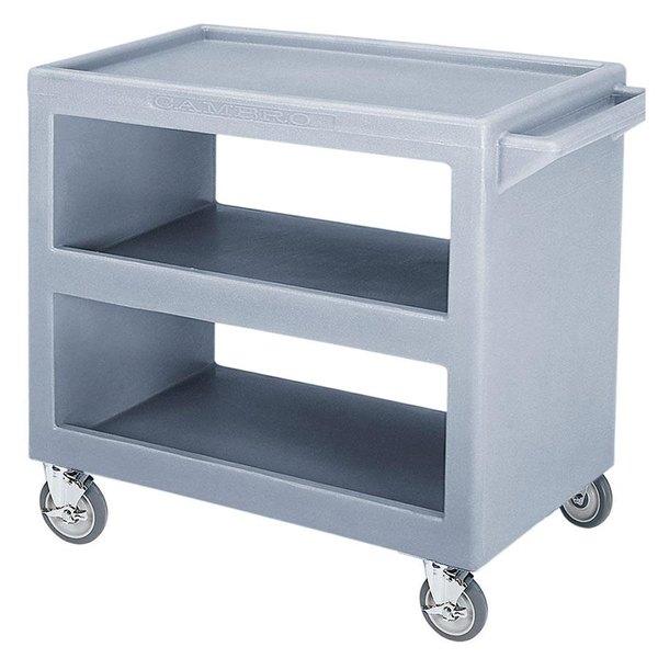 "Cambro BC2354S Slate Blue Three Shelf Service Cart - 37 1/4"" x 21 1/2"" x 34 5/4"" Main Image 1"