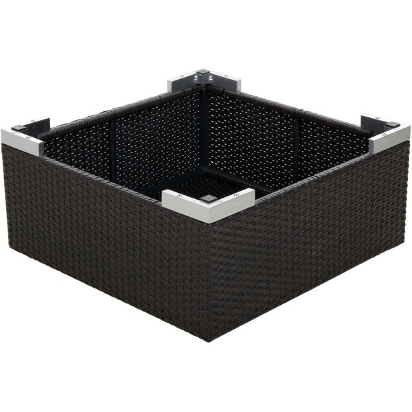 Bfm Seating Ph5104jv Gl Aruba Java Wicker Coffee Table With Tempered Top