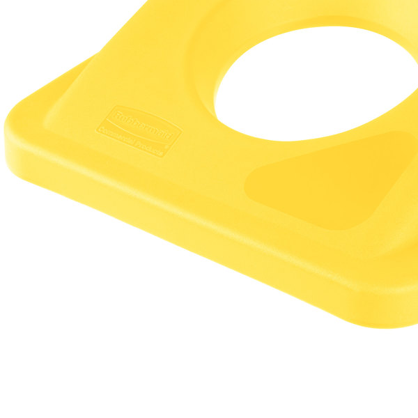 Rubbermaid Commercial Products FG269288YEL Recycling Bottle//Can Lid Slim Jim Container Yellow