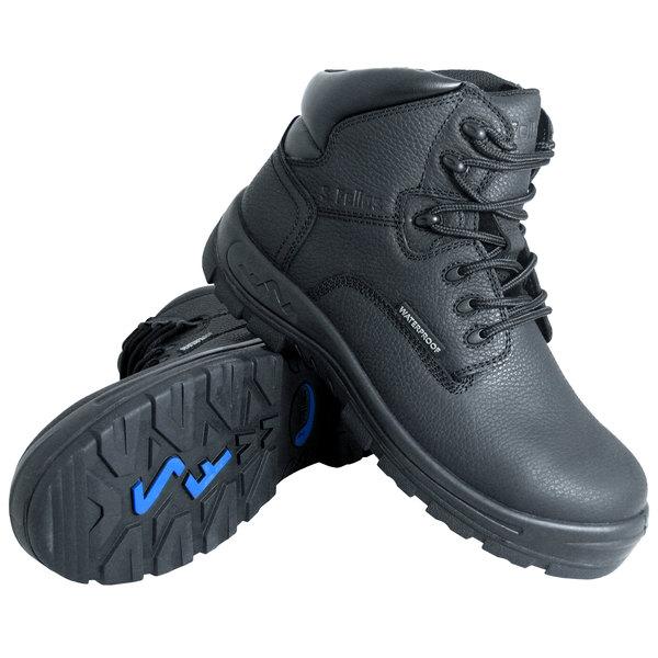 Genuine Grip 650 Poseidon Women's Size 6 Wide Width Black Waterproof Composite Toe Non Slip Full Grain Leather Boot