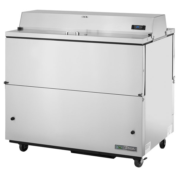 True TMC-49-S-DS-SS-HC 49 inch Two Sided Milk Cooler with Stainless Steel Exterior and Interior