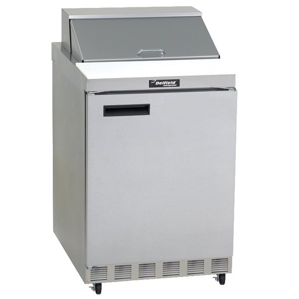 "Delfield 4432N-12M 32"" 1 Door Mega Top Refrigerated Sandwich Prep Table"